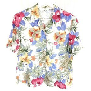 (T1-21) Alfred Dunner 12P Floral Blouse